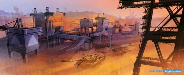 Quarry tank battle