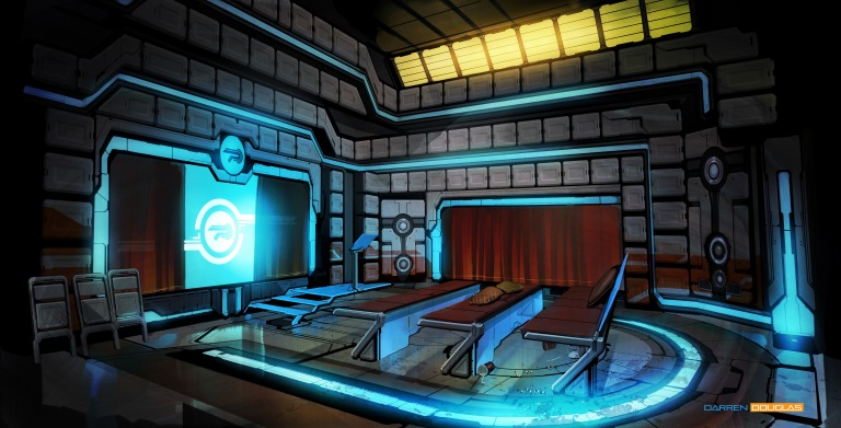 humanised room briefing room
